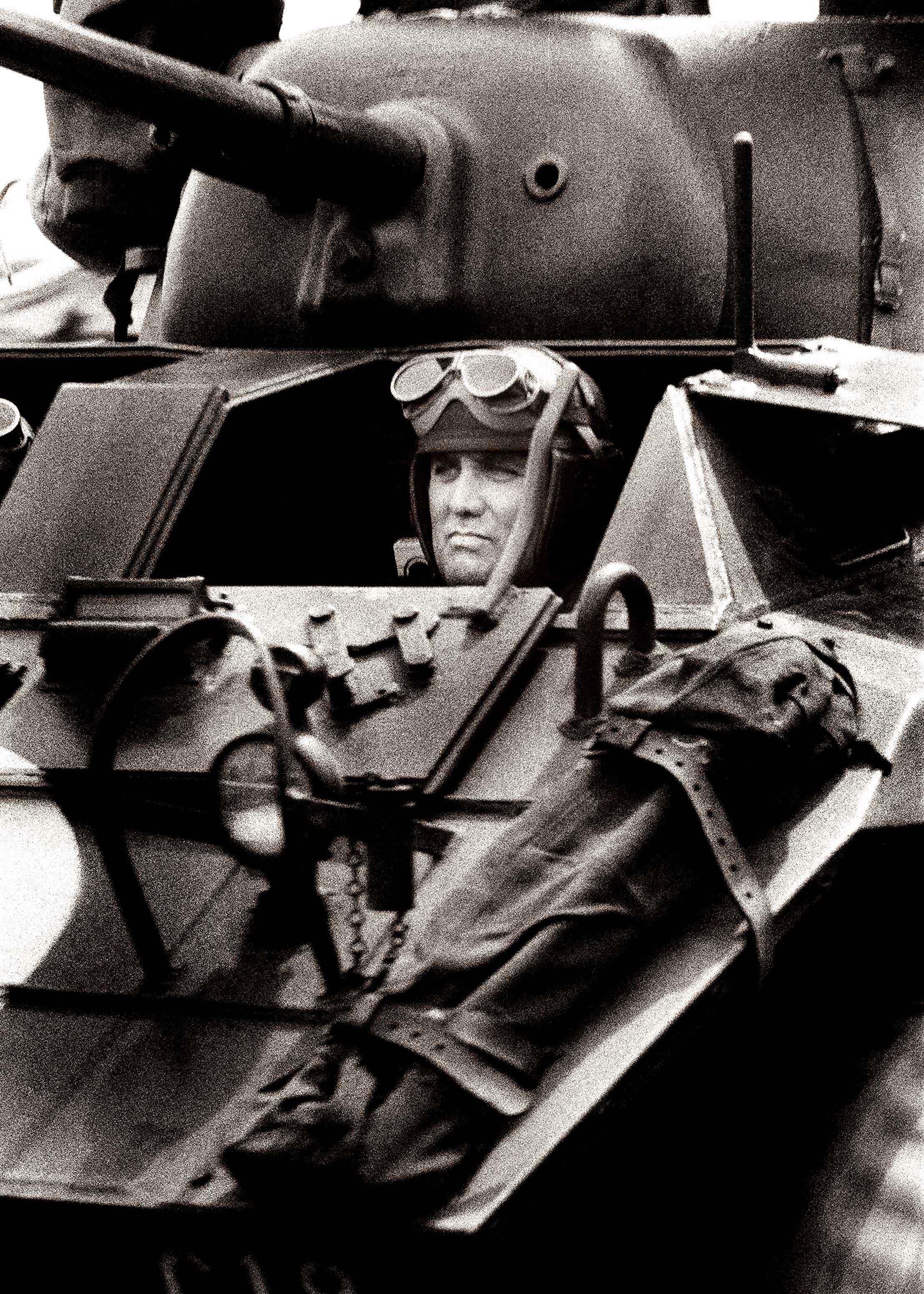 sherman tank ww2 black & white
