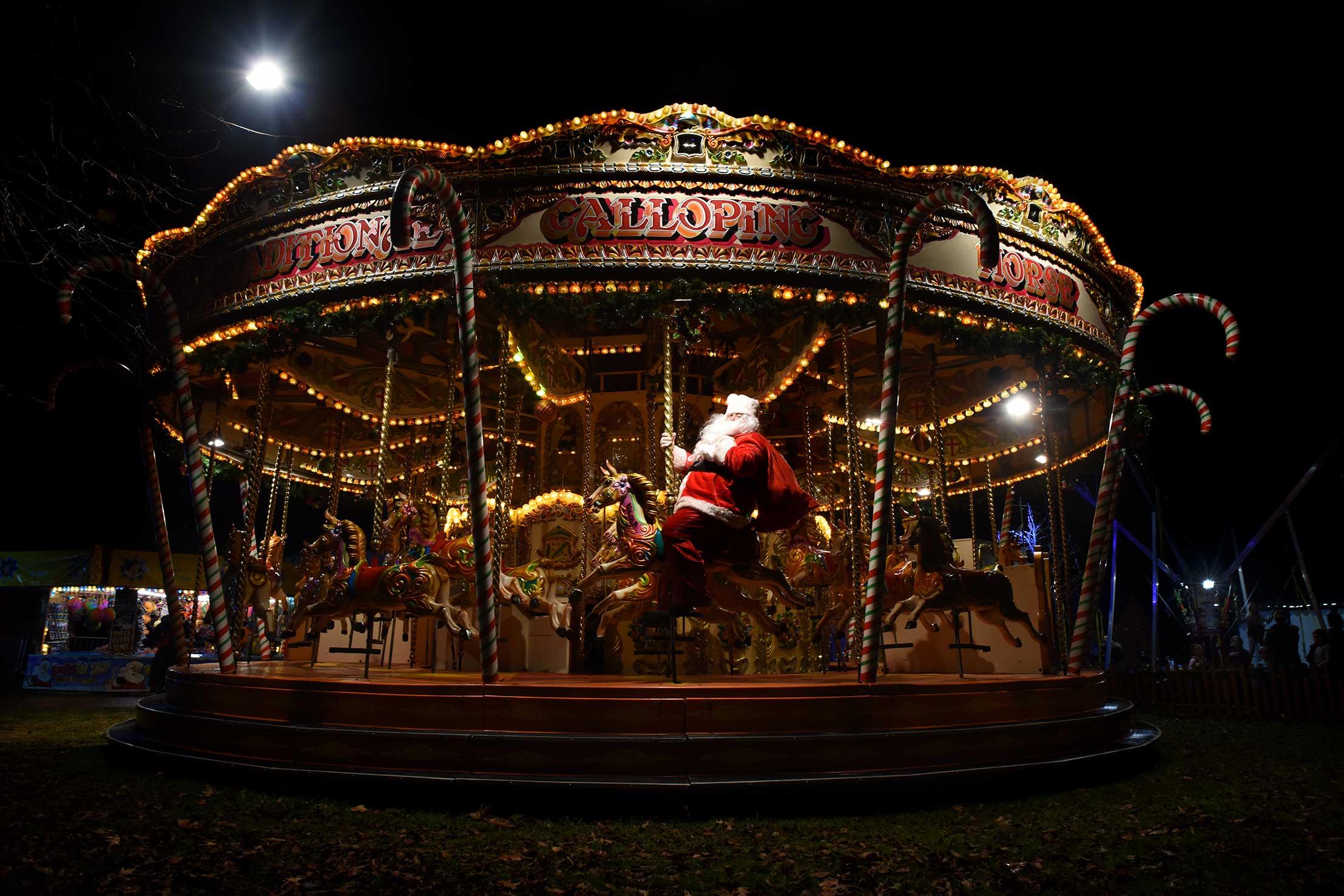 Carosel Christmas Santa Claus