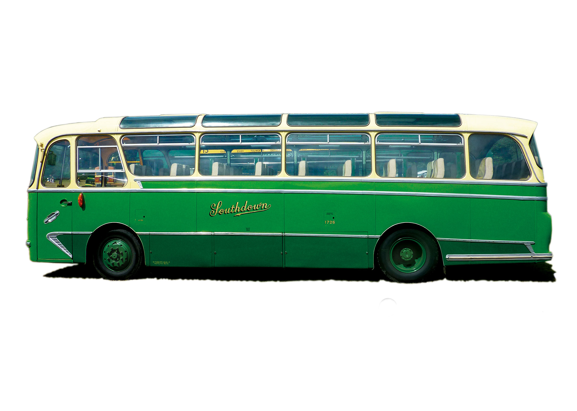 Classic UK Green Bus