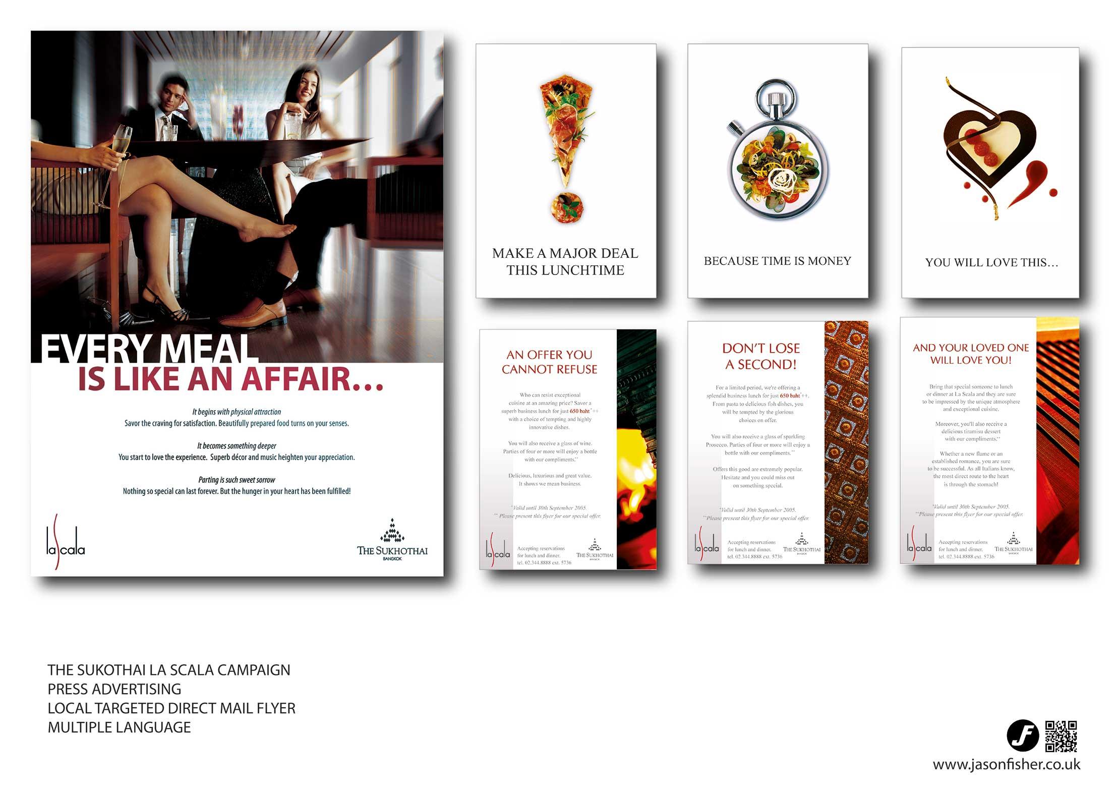 Hotel Sukothai advertising and promotion